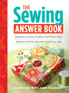 The Sewing Answer Book (eBook): Solutions to Every Problem Youll Ever Face; Answers to Every Question Youll Ever Ask
